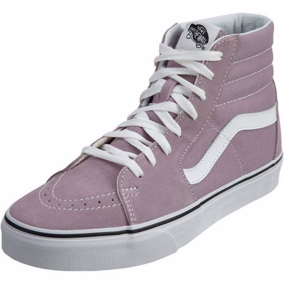 7118331c1ba2f9 Vans SK8 HI Mens Womens Sea Fog White Canvas Lace.  M 5c379d7daaa5b8e33fecdc42. Other Shoes ...